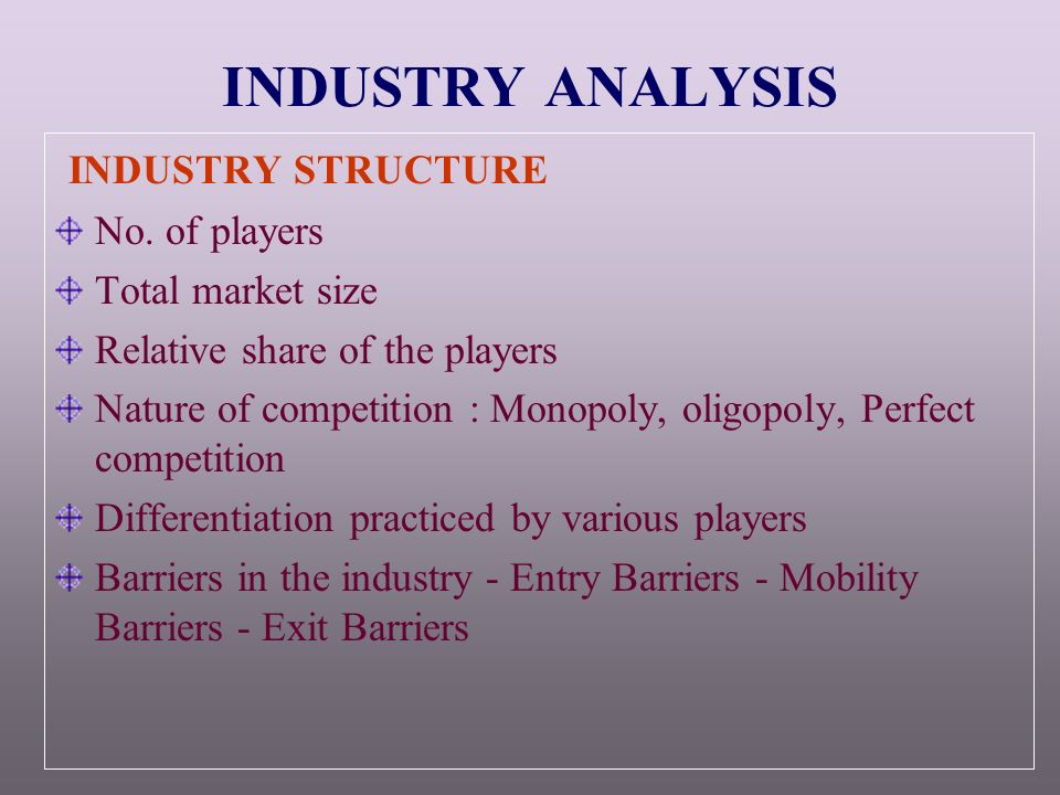 Market Structure Analysis in Tanzania