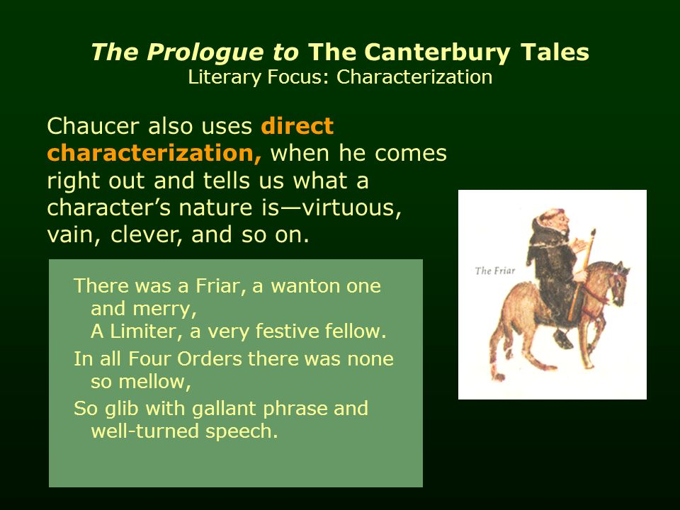 the canterbury tales a character sketch The pardoner's tale is one of the canterbury tales by geoffrey chaucer  the pardoner is an enigmatic character,  the canterbury tales:.