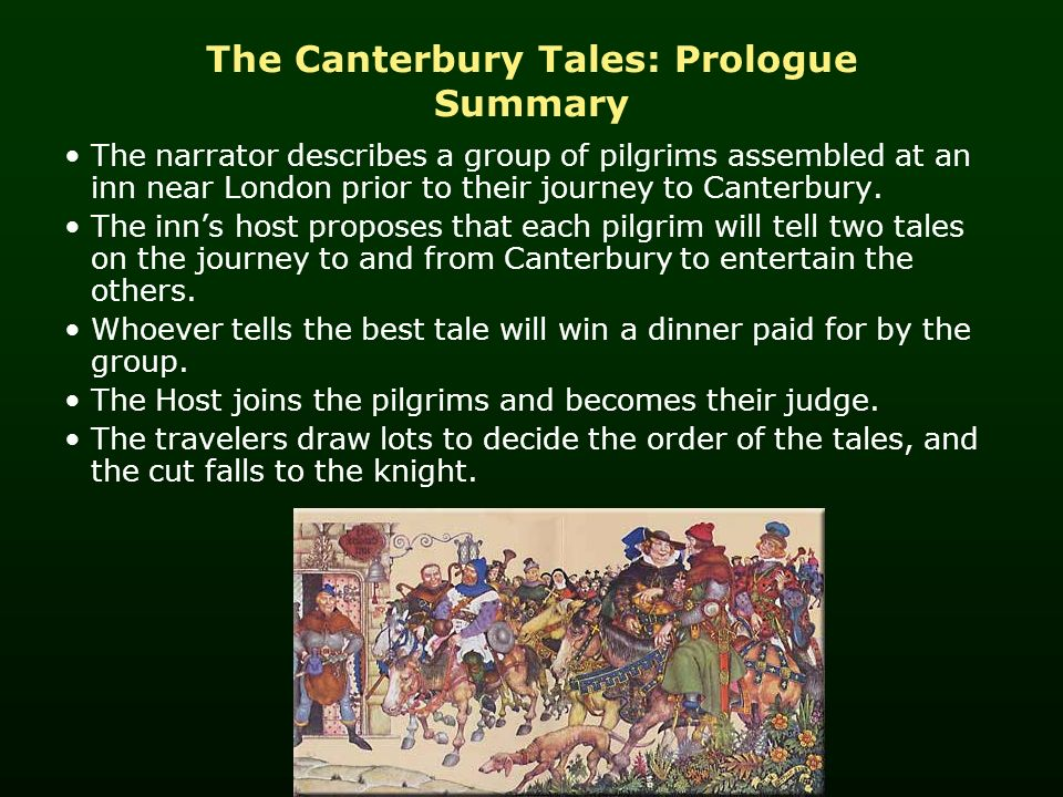 an analysis of chaucers the canterbury The canterbury tales: character analysis geoffrey chaucer's canterbury tales, written in approximately 1385, is a collection of twenty-four stories ostensibly told by various people who are going on a religious pilgrimage to canterbury cathedral from london, england.