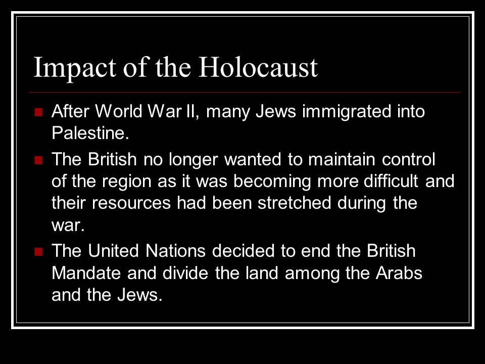 an analysis of the effects on the jews during the holocaust During the period of the holocaust, the german peoples participation or indifference's towards state sponsored genocide and murder could have been an effect of racism, national pride, and peer pressure.