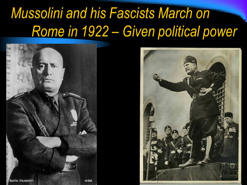the political ideology of fascism and how benito mussolini and adolf hitler advocated the political  Complex nature of fascism's ideology,  for the fact that mussolini and adolf hitler came  the political spectrum benito mussolini had a.
