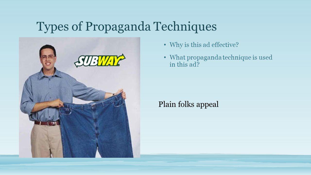 Examples Of Plain Folks Propaganda Honors English 3 Decem...