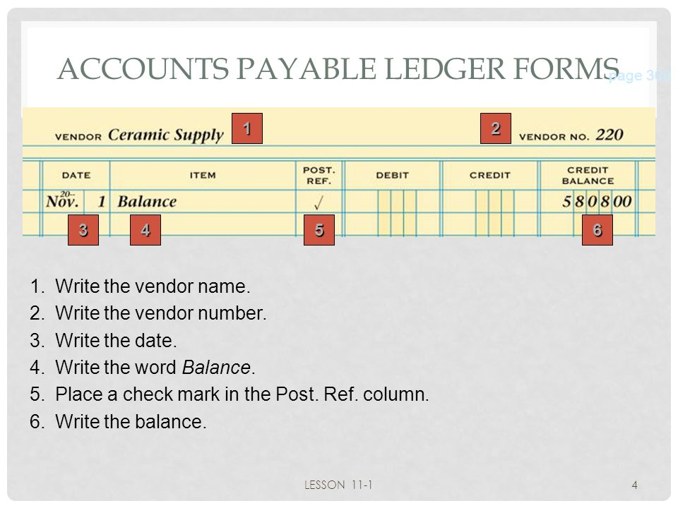 LESSON 11-1 Posting to an Accounts Payable Ledger - ppt video ...