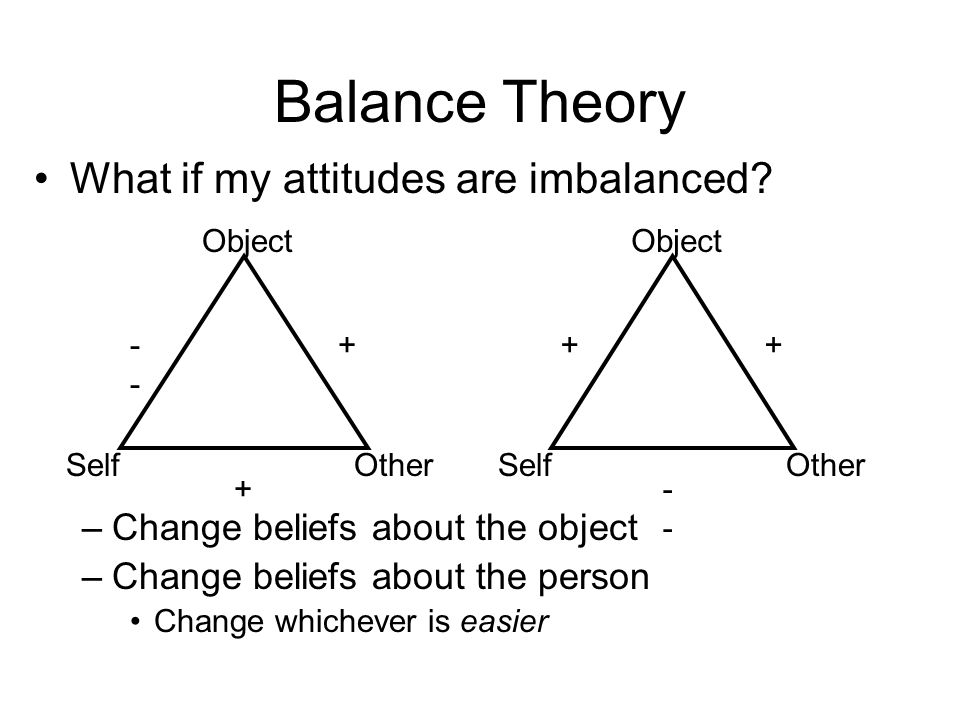 balance theory Literary criticism and balance theory wouter de nooy department of art and  culture studies, erasmus university rotterdam, po box 1738  nl 3000 dr.