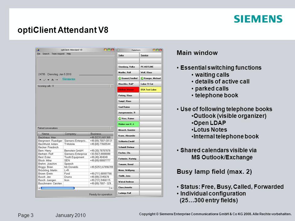 optiClient Attendant V8