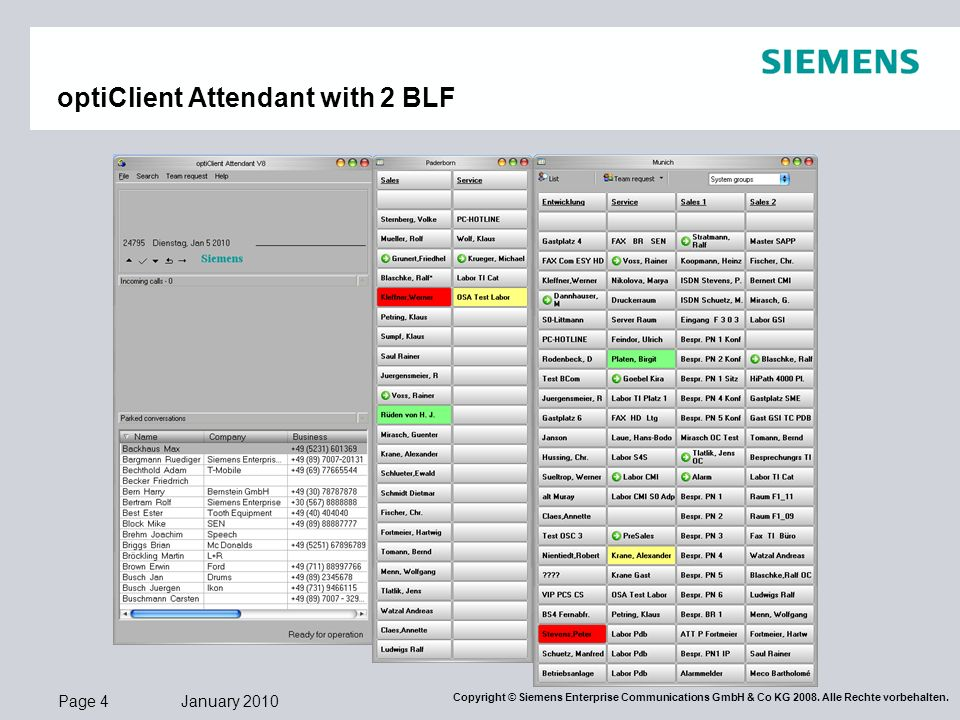 optiClient Attendant with 2 BLF