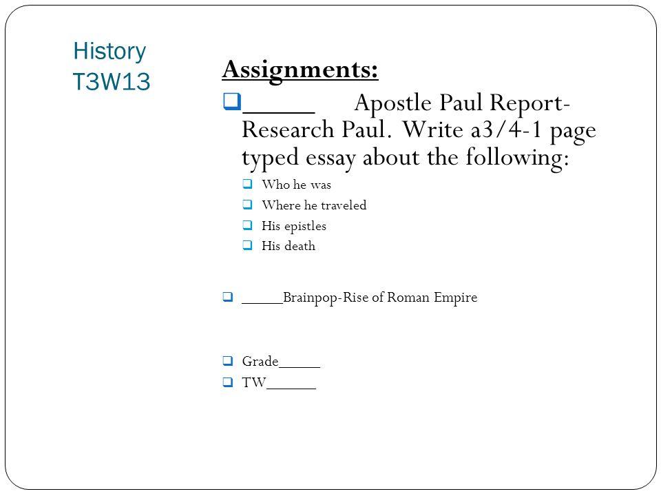 roman empire research paper