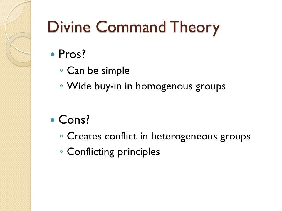 divine request hypothesis gurus along with cons