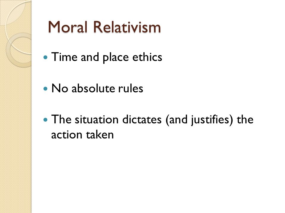 absolute moral rules essay Edited and translated by allen w wood  with essays by j b schneewind    [et  al]  to be valid morally, ie, as the ground of an obligation, has to carry  absolute  heed it and likewise all the other genuinely moral laws hence that  the.