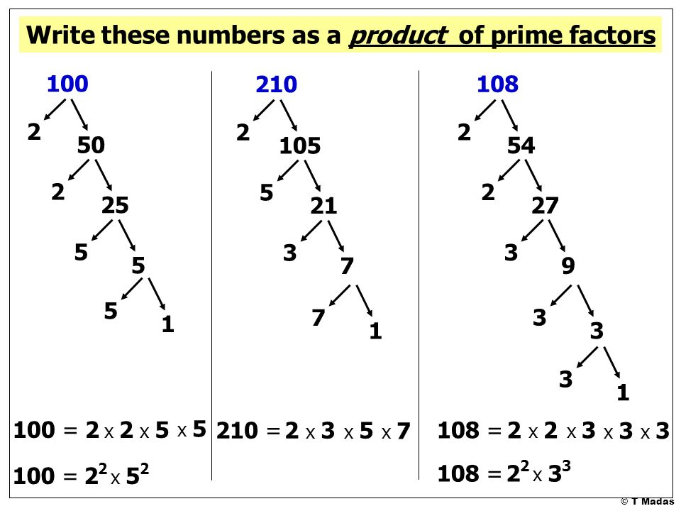 write 63 as a product of prime factors