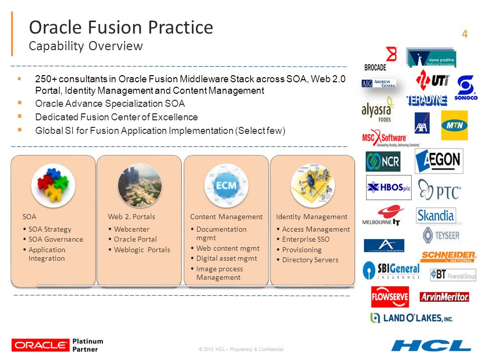 Oracle specialisations overview