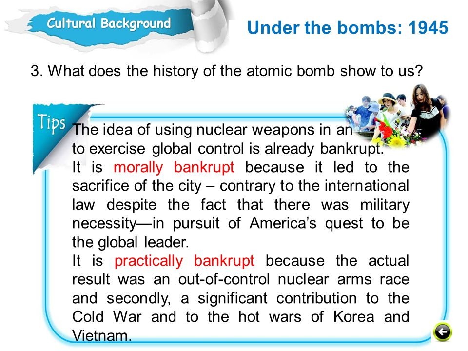 Under the bombs: 1945 Humanities