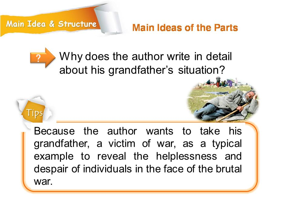 Why does the author write in detail about his grandfather's situation