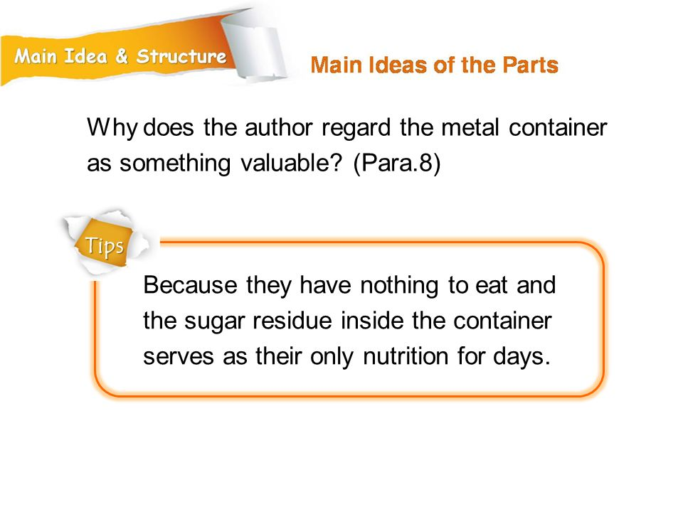Why does the author regard the metal container