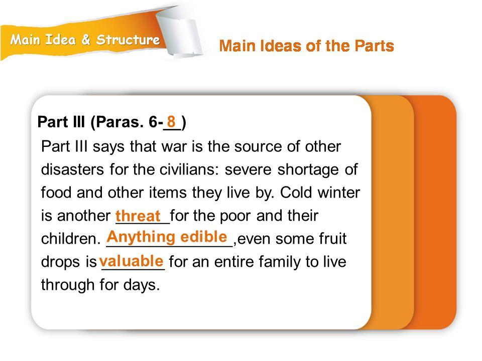 Part III (Paras. 6-__) 8.