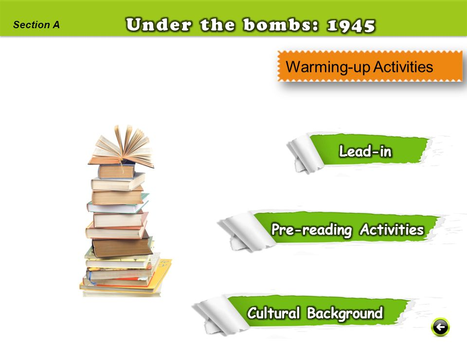 Under the bombs: 1945 Warming-up Activities Lead-in