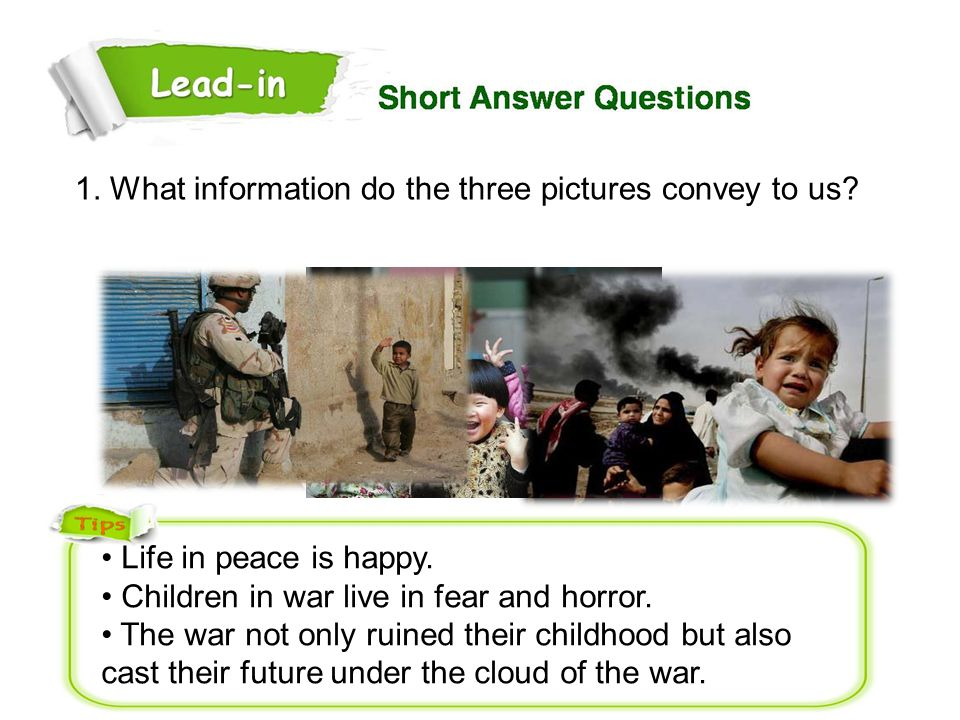 1. What information do the three pictures convey to us