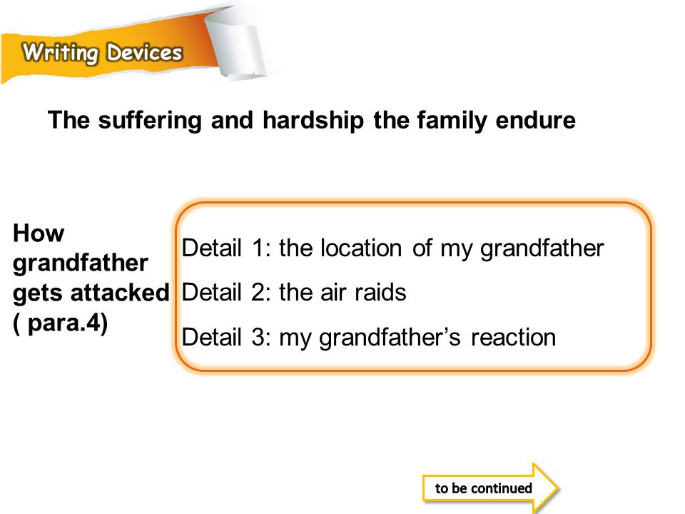 The suffering and hardship the family endure