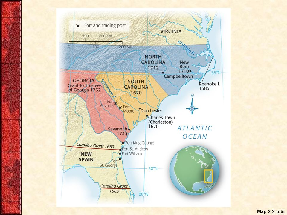 The Planting Of English America Ppt Video Online Download - Georgia map 1733
