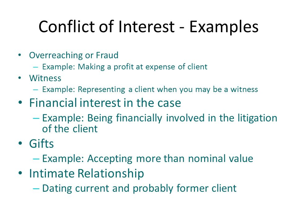 conflict interest case conflict of interest policy article i purpose the purpose of the conflict of