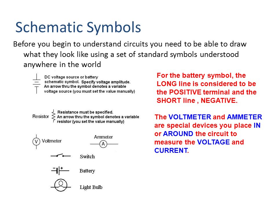 Contemporary Circuit Symbol Of Resistor Illustration - Schematic ...