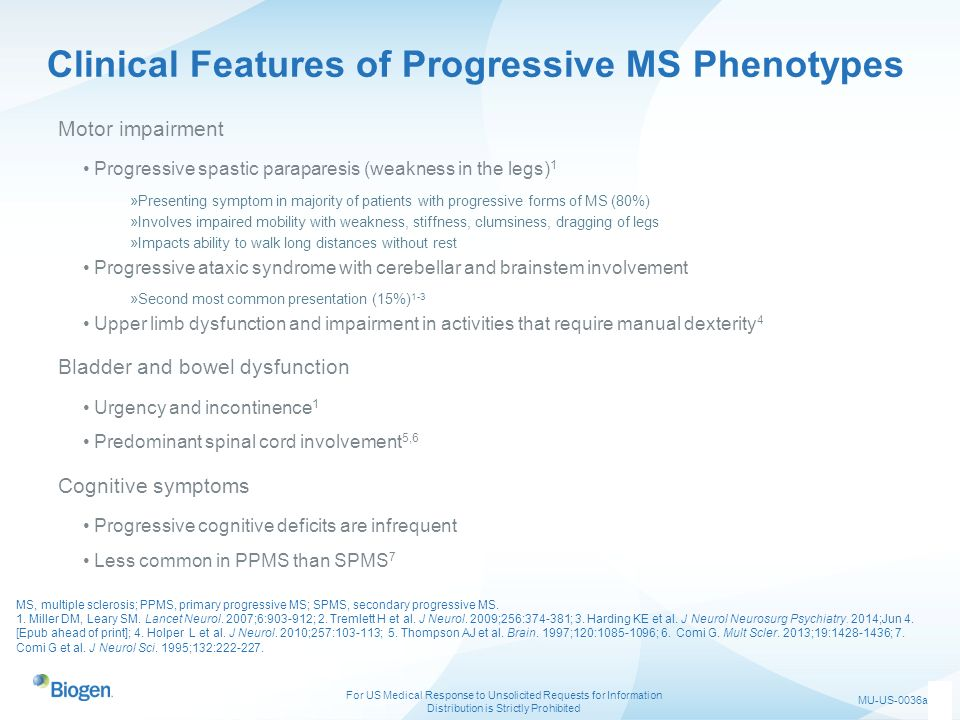 Clinical Features of Progressive MS Phenotypes