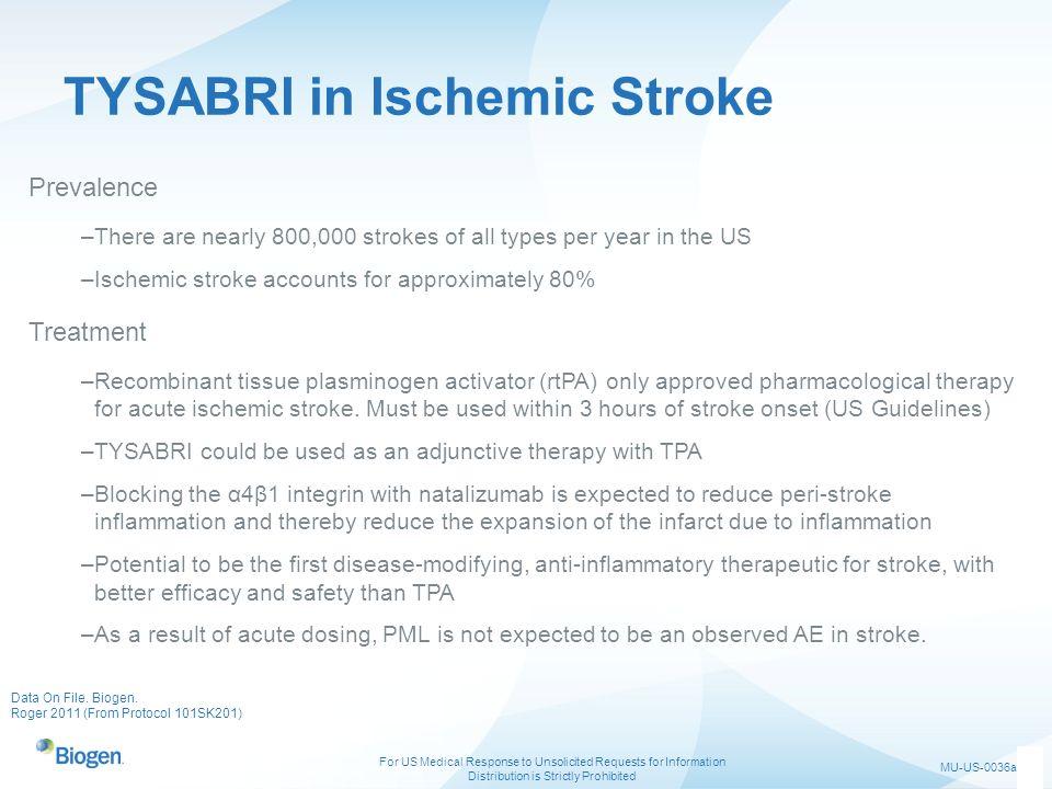 TYSABRI in Ischemic Stroke