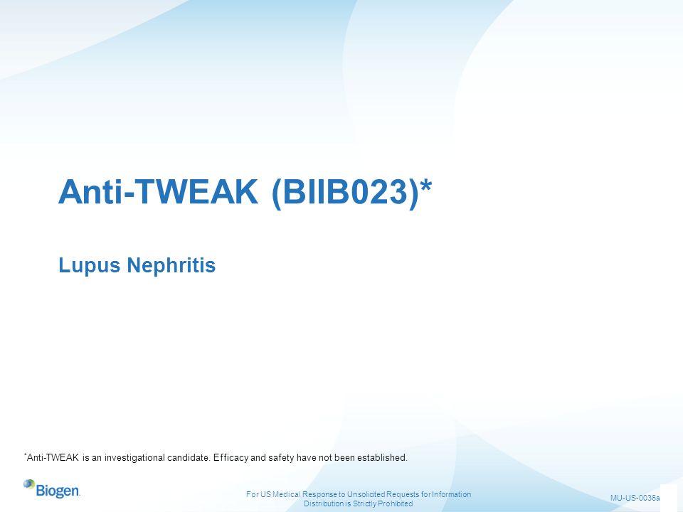 Anti-TWEAK (BIIB023)* Lupus Nephritis
