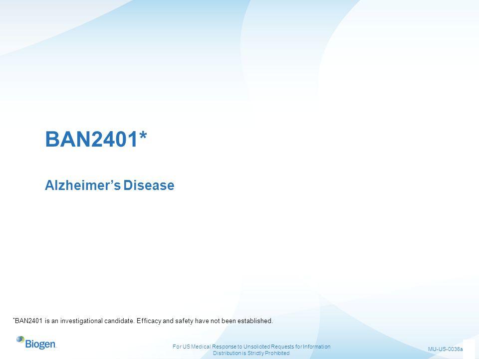BAN2401* Alzheimer's Disease