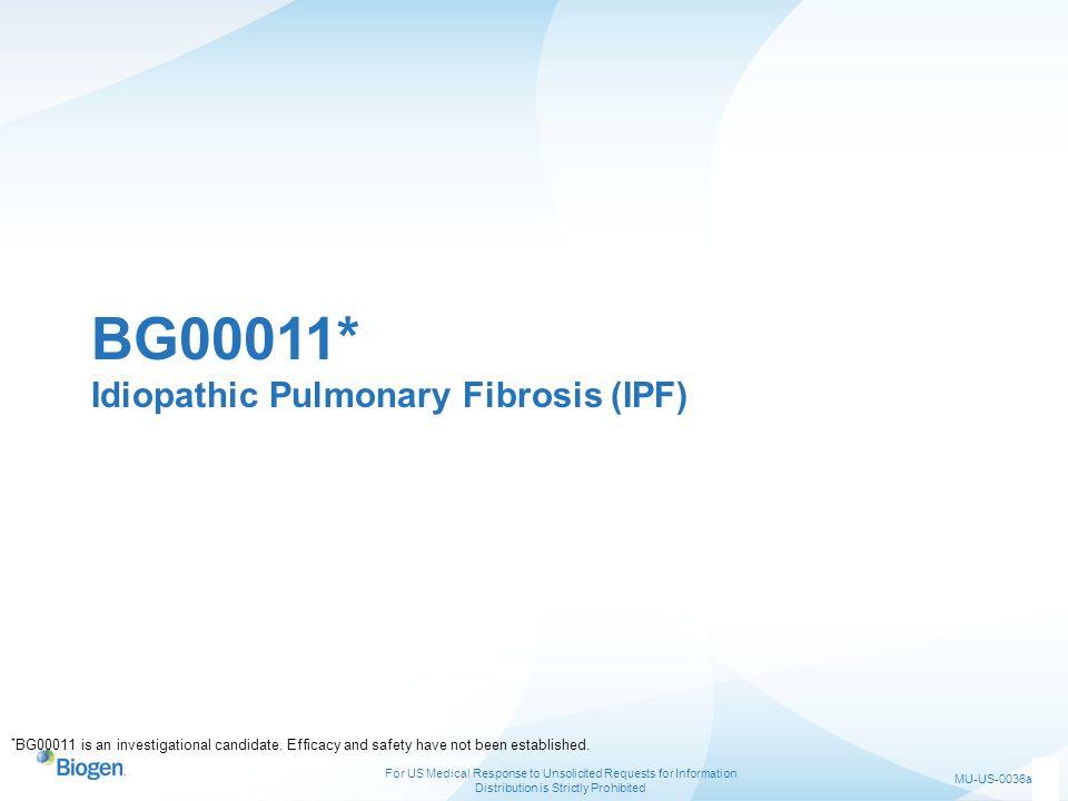 BG00011* Idiopathic Pulmonary Fibrosis (IPF)