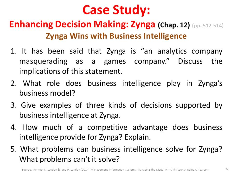 zynga wins with business intelligence essay Essay zynga wins with business intelligence the internet and social media websites have provided lucrative business opportunities for many companies.