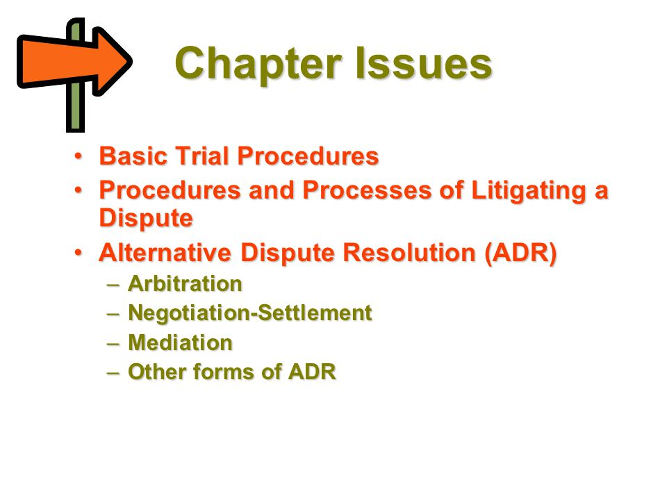 Trials and Resolving Disputes - ppt download