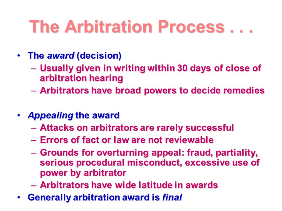 how to start an arbitration process