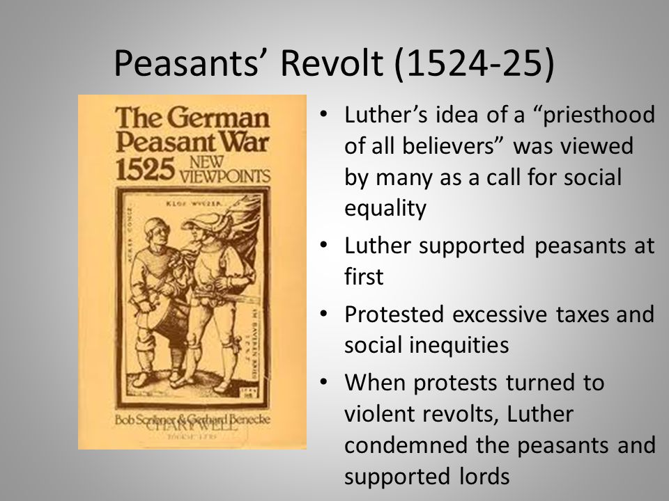 peasant revolt 1524 dbq Peasant revolt dbq - feudalism essay example the peasant revolts in late 1524 were constructed by peasants, craftsmen, and.