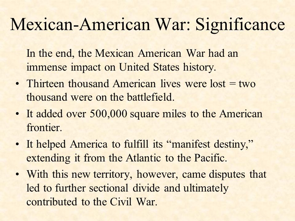 the impact of manifest destiny on the history of the united states -this unit will be used for both my pre-ap and general us history 1 students these classes  understand what manifest destiny is and its impact on the us.