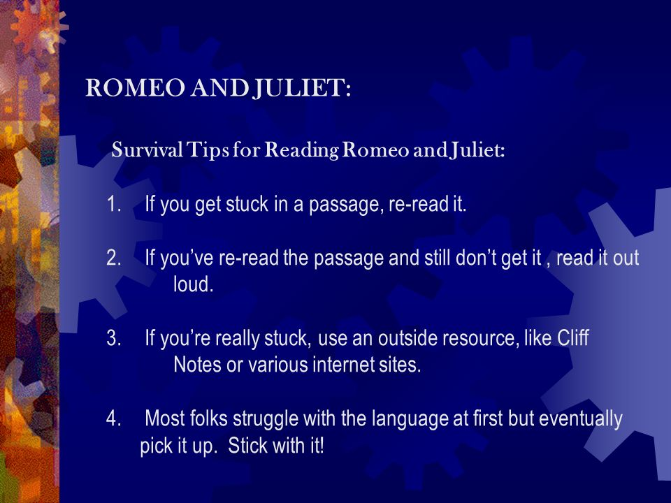romeo and juliet techniques used Studying romeo and juliet: navigation home page contents forum maximize search comment mail me author: introduction how to write about shakespeare's plays.