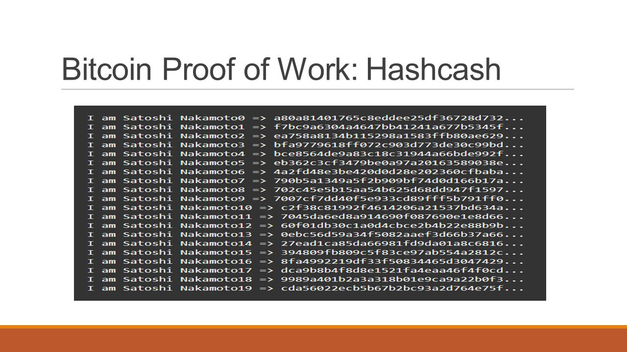 What is Proof of Work