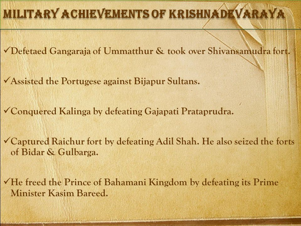 Military achievements of Krishnadevaraya