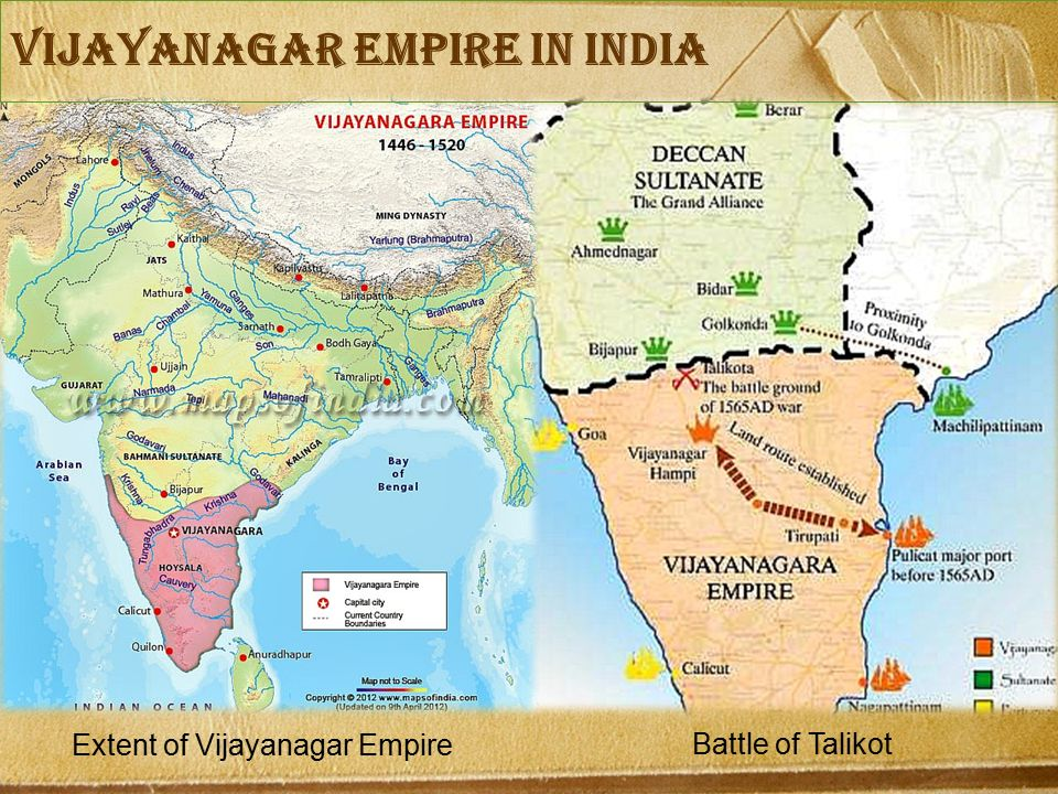 Extent of Vijayanagar Empire