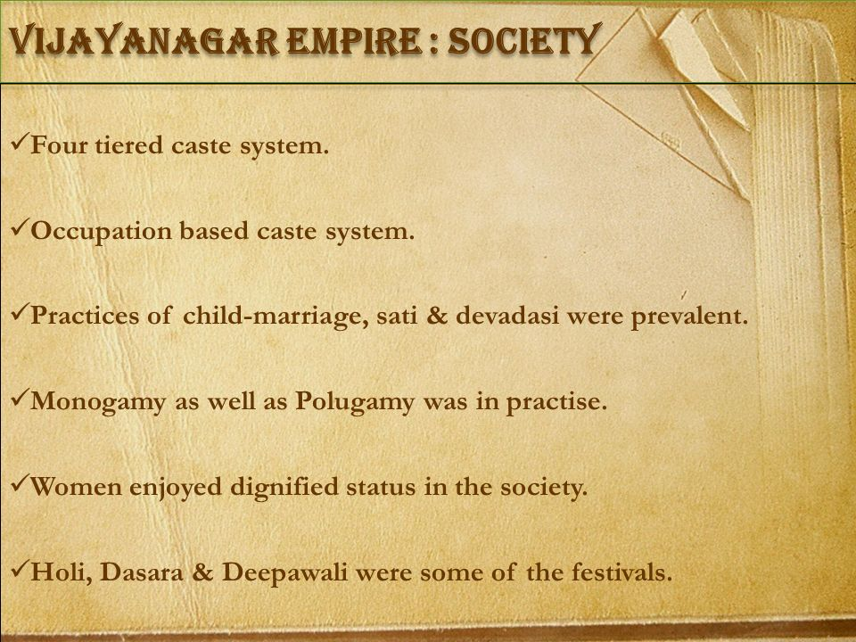 vIJAYANAGAR empire : Society