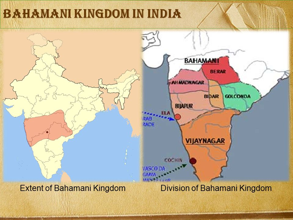 bahamani Kingdom in India