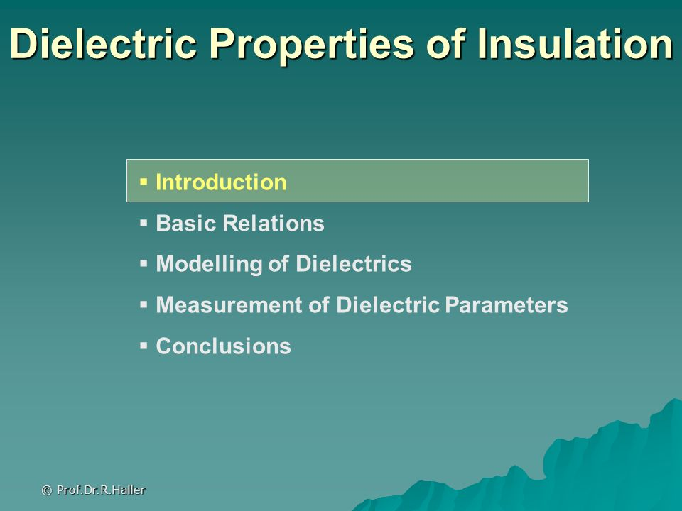 Dielectric Properties of Insulation