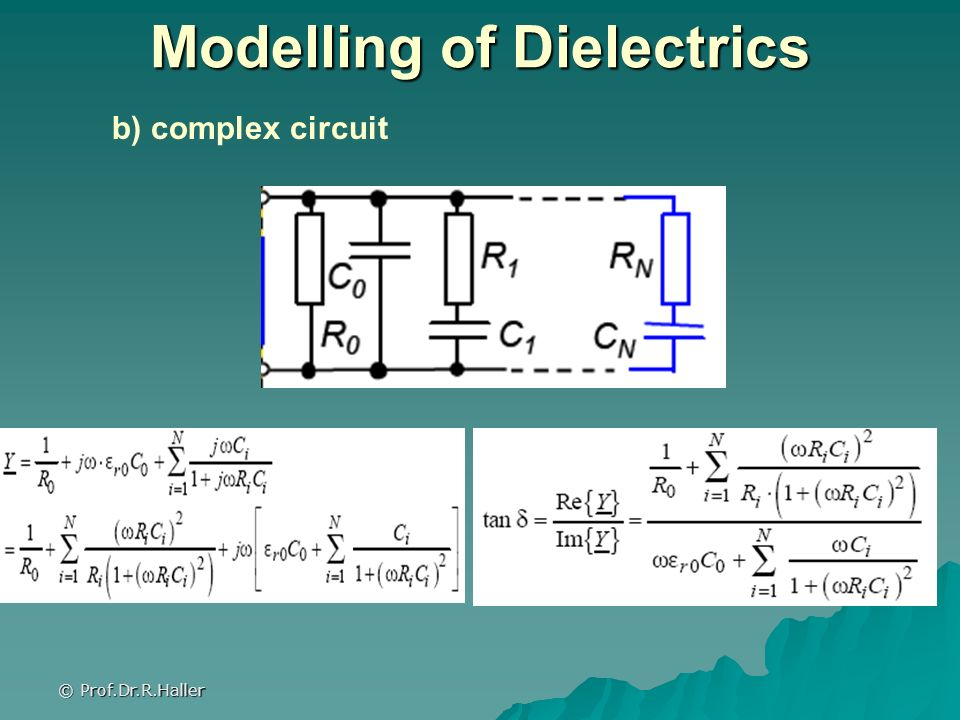 Modelling of Dielectrics