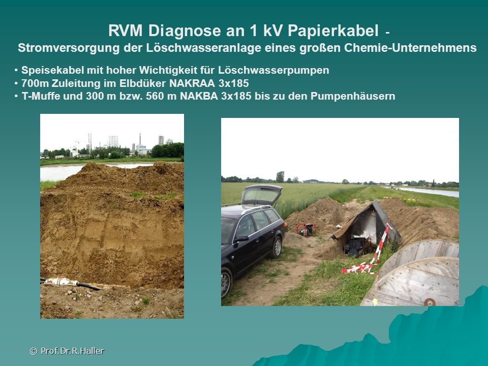 RVM Diagnose an 1 kV Papierkabel -