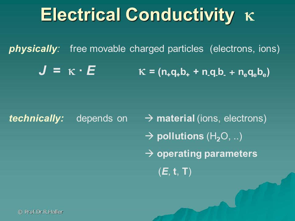 Electrical Conductivity 