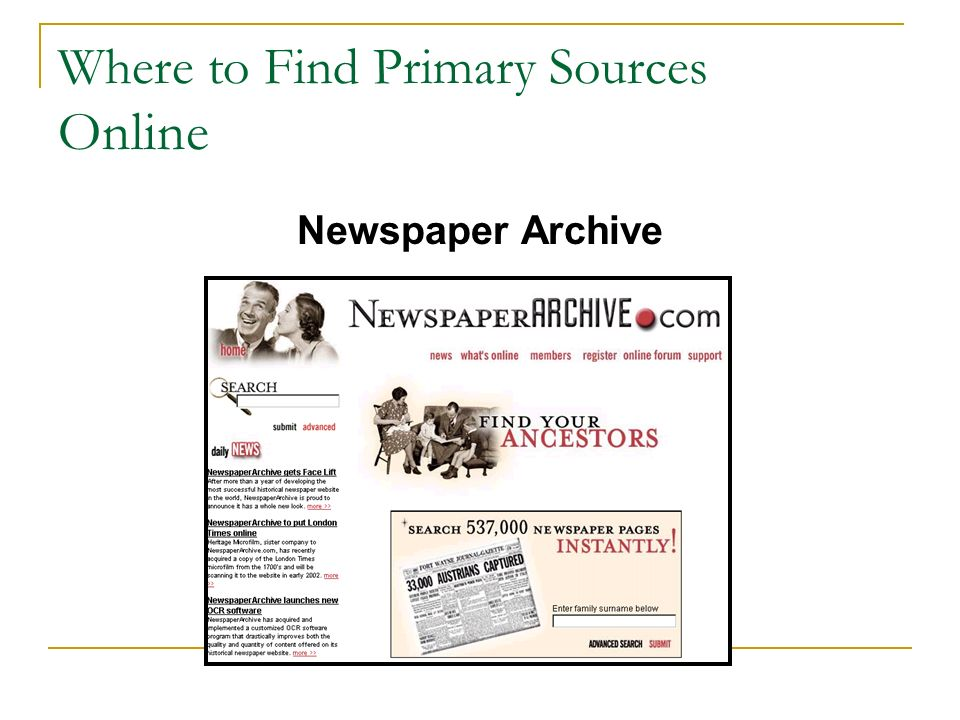 finding the best online primary sources Secondary sources are less easily defined than primary sources generally, they are accounts written after the fact with the benefit of hindsight they are interpretations and evaluations of primary sources secondary sources are not evidence, but rather commentary on and discussion of evidence however, what some define as a secondary source, others define as a tertiary source.