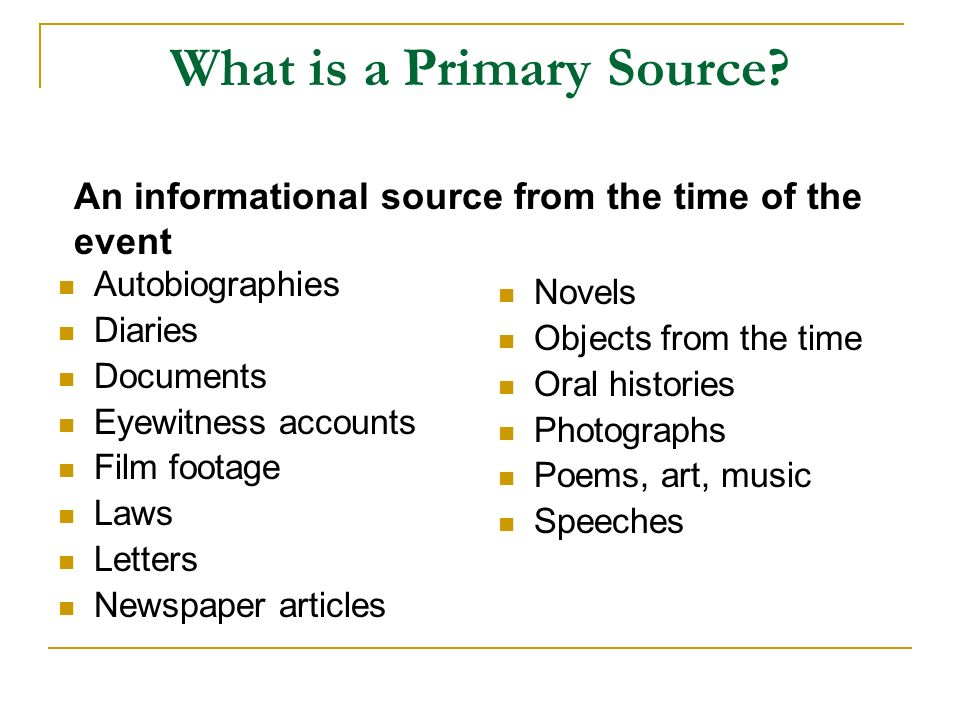 primary origin of article