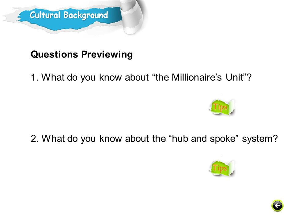 1. What do you know about the Millionaire's Unit