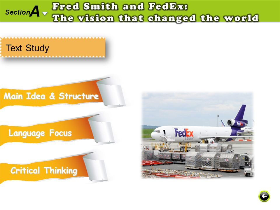 A Fred Smith and FedEx: The vision that changed the world Text Study