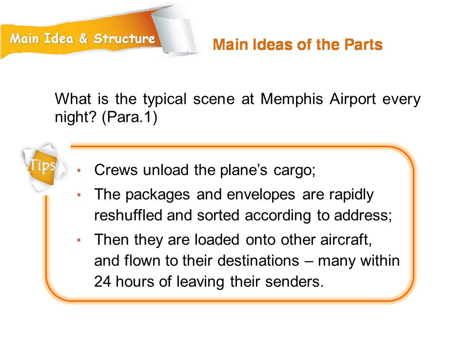 What is the typical scene at Memphis Airport every night (Para.1)